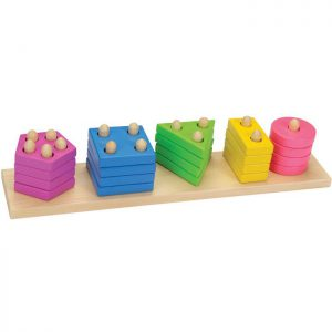 kolorowy sorter kształtów i liczb goki