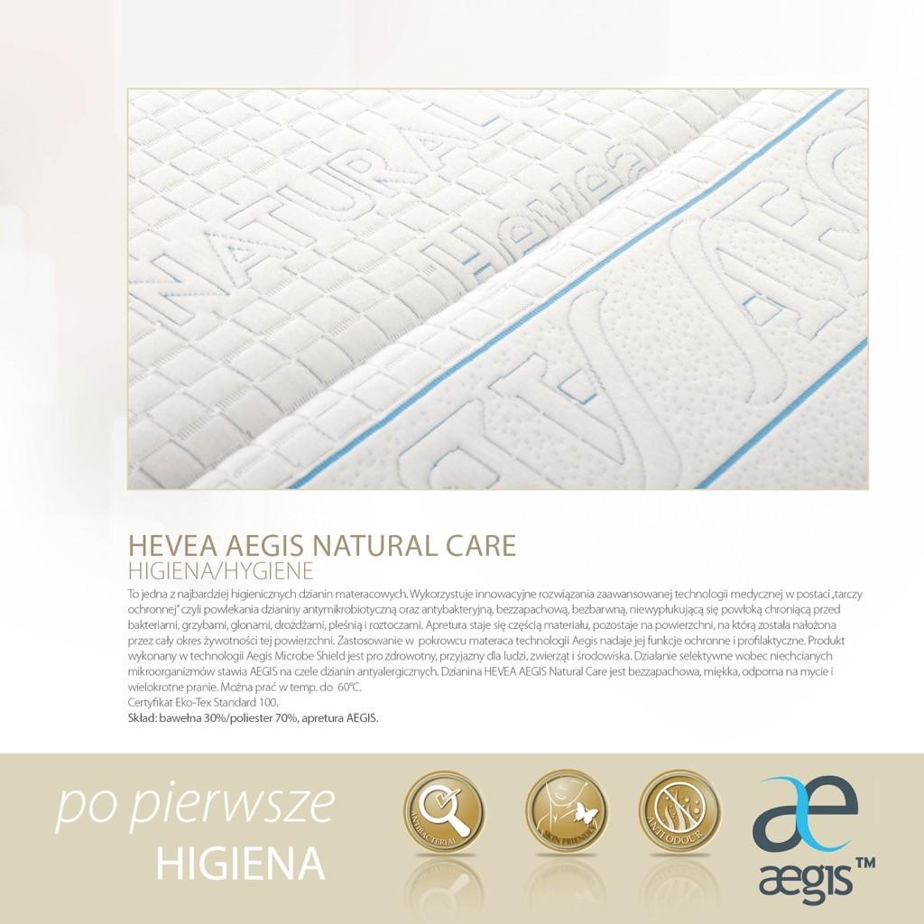 materac lateksowy Hevea Baby Aegis Natural Care pokrowiec.