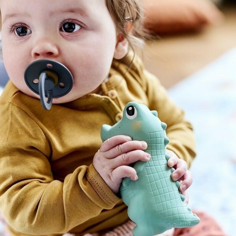 Petit Monkey - Krokodyl Charlie gryzak z grzechotką