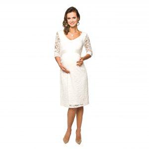 kremowa sukienka lace torelle