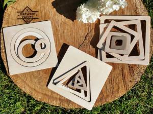 drewniana układanka kształty