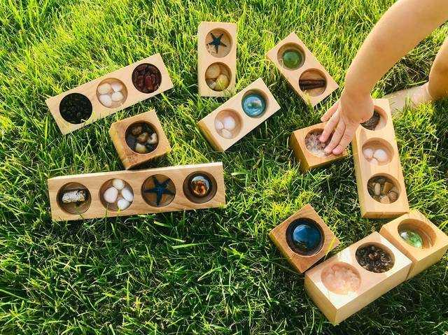 drewniane klocki sensoryczne