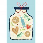 drewniana kartka okolicznościowa świąteczny słoik