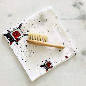 Miękka szczotka z włosia koziego z myjką MRB