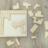 drewniana tabliczka mnożenia układanka lilco