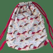 bawełniany worek plecak jednorożce