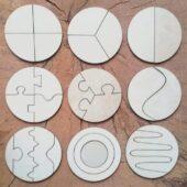 obłędne koło drewniane puzzle